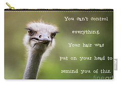 Ostrich Having A Bad Hair Day Carry-all Pouch