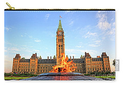 Ottawa Parliament Hill With Centennial Flame Carry-all Pouch