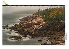 Carry-all Pouch featuring the photograph Otter Cliffs by Gary Lengyel