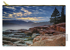 Otter Cove In The Mist Carry-all Pouch by Rick Berk