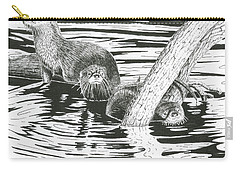 Otters Three Carry-all Pouch