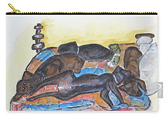 Our Bed Now Carry-all Pouch by Clyde J Kell