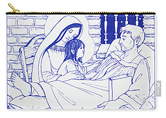 Carry-all Pouch featuring the painting Our Lady And The Holy Child Jesus Visit St Ignatius The Convalescent In Loyola by William Hart McNichols