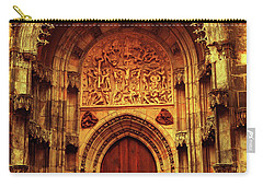 Carry-all Pouch featuring the photograph Our Lady Before Tyn 1. Architecture. Series Golden Prague by Jenny Rainbow