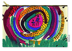 Carry-all Pouch featuring the mixed media Our Own Colorful World I by Angela L Walker