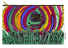 Our Own Colorful World II Carry-all Pouch by Angela L Walker