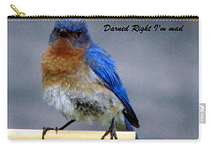 Our Own Mad Blue Bird Carry-all Pouch