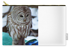 Carry-all Pouch featuring the photograph Our Own Owl by Betty Pieper