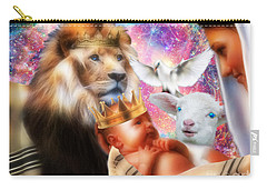 Carry-all Pouch featuring the digital art Our Saviors Birth by Dolores Develde