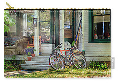 Carry-all Pouch featuring the photograph Our Town Bicycle by Craig J Satterlee