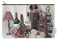 Carry-all Pouch featuring the photograph Our Wine Cellar by Sherry Hallemeier