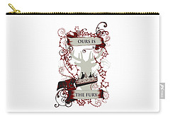 Carry-all Pouch featuring the digital art Ours Is The Fury by Christopher Meade