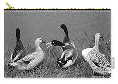 Carry-all Pouch featuring the photograph Out Of My Way by Nareeta Martin