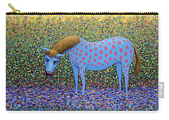 Carry-all Pouch featuring the painting Out Of The Pasture by James W Johnson