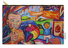 Carry-all Pouch featuring the painting Out The Door Like Hot Cakes by Dianne  Connolly