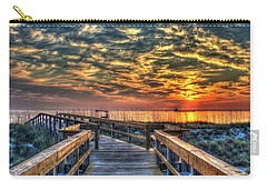 Carry-all Pouch featuring the photograph Out To Sea Tybee Island Georgia Art by Reid Callaway
