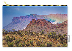 Outback Rainbow Carry-all Pouch by Racheal  Christian