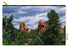Carry-all Pouch featuring the digital art outcroppings in Colorado Springs by Chris Flees