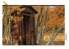 Outhouse In The Aspens Carry-all Pouch by James Eddy