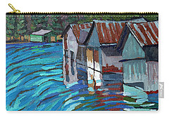 Outlet Row Of Boat Houses Carry-all Pouch