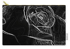 Outline Of A Rose Carry-all Pouch by Micah May