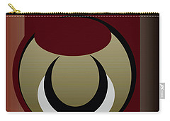 Carry-all Pouch featuring the digital art Outside The Box by John Krakora