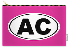 Carry-all Pouch featuring the photograph Oval Ac Atlantic City New Jersey Home Pride by Keith Webber Jr