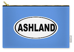 Carry-all Pouch featuring the photograph Oval Ashland Oregon Or Ohio Home Pride by Keith Webber Jr