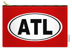 Carry-all Pouch featuring the photograph Oval Atl Atlanta Georgia Home Pride by Keith Webber Jr