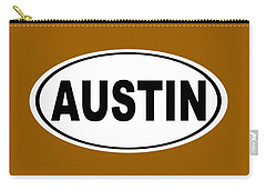 Carry-all Pouch featuring the photograph Oval Austin Texas Home Pride by Keith Webber Jr