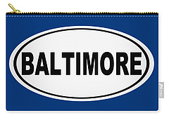 Carry-all Pouch featuring the photograph Oval Baltimore Maryland Home Pride by Keith Webber Jr