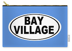 Carry-all Pouch featuring the photograph Oval Bay Village Ohio Home Pride by Keith Webber Jr