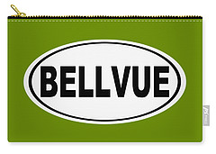 Carry-all Pouch featuring the photograph Oval Bellvue Colorado Home Pride by Keith Webber Jr