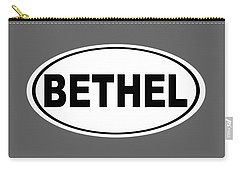 Carry-all Pouch featuring the photograph Oval Bethel Connecticut Home Prid by Keith Webber Jr