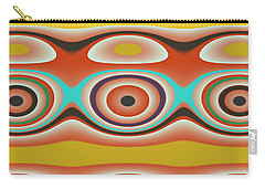 Carry-all Pouch featuring the digital art Ovals And Circles Pattern Design by Jessica Wright