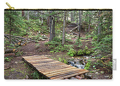 Carry-all Pouch featuring the photograph Over The Bridge And Through The Woods by James BO Insogna