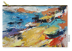Carry-all Pouch featuring the painting Over The Hills And Far Away by Elise Palmigiani