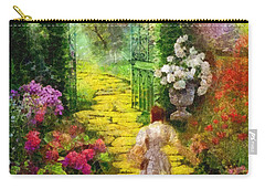 Carry-all Pouch featuring the painting Over The Rainbow by Mo T