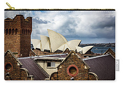 Carry-all Pouch featuring the photograph Over The Roof Tops by Perry Webster