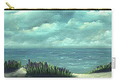 Carry-all Pouch featuring the painting Overcast by Anastasiya Malakhova