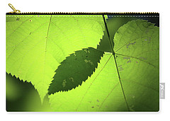 Overlapping Leaves In Sun Carry-all Pouch by Mary Bedy