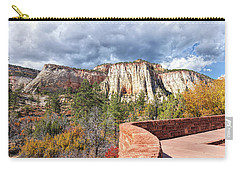 Carry-all Pouch featuring the photograph Overlook In Zion National Park Upper Plateau by John M Bailey
