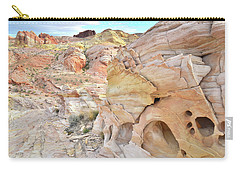 Overlooking Wash 5 In Valley Of Fire Carry-all Pouch