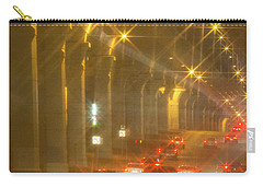 Carry-all Pouch featuring the photograph Overpass Traffic by Linda Phelps