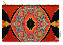Carry-all Pouch featuring the photograph Unique And Colorful Orange Black Yellow Design by Oksana Semenchenko