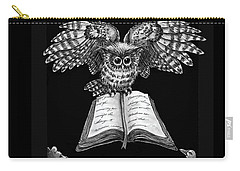 Owl And Friends Blackwhite Carry-all Pouch