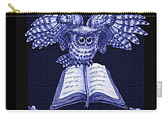Owl And Friends Indigo Blue Carry-all Pouch