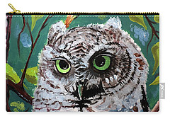 Carry-all Pouch featuring the painting Owl Be Seeing You by Tom Riggs