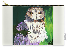 Owl Behind A Tree Carry-all Pouch