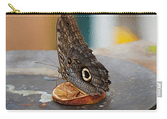 Carry-all Pouch featuring the photograph Owl Butterfly-1 by Paul Gulliver